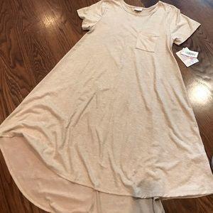 LuLaRoe NWT neigh heather Carly dress. Size CSA